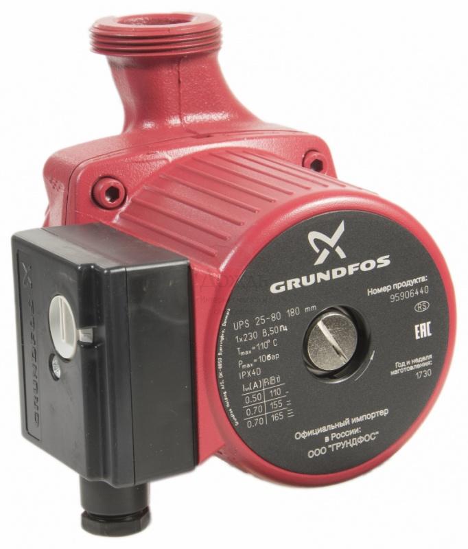Купить Grundfos 95906440 (52588431) UPS 25-80 в интернет-магазине Дождь