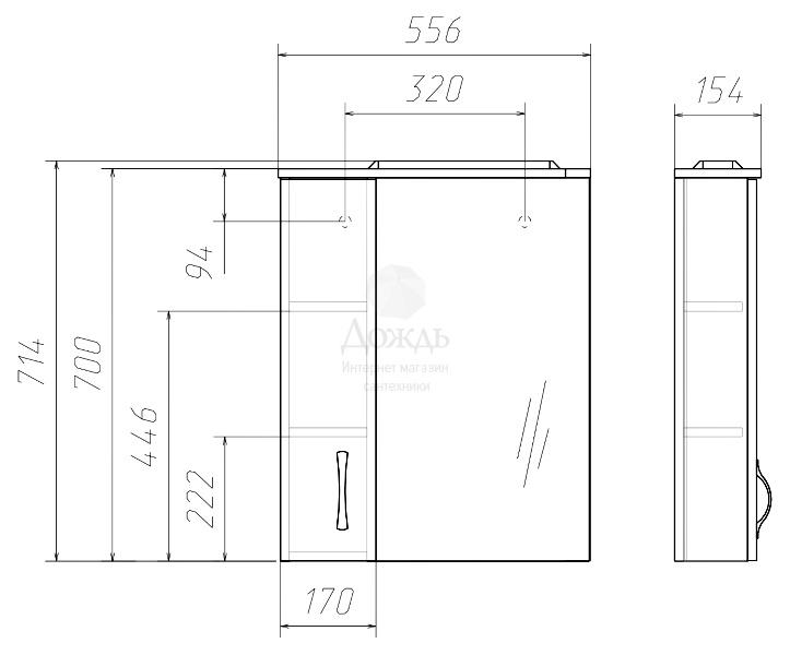 Купить Домино Идеал Блик 56,5 см, белый в интернет-магазине Дождь