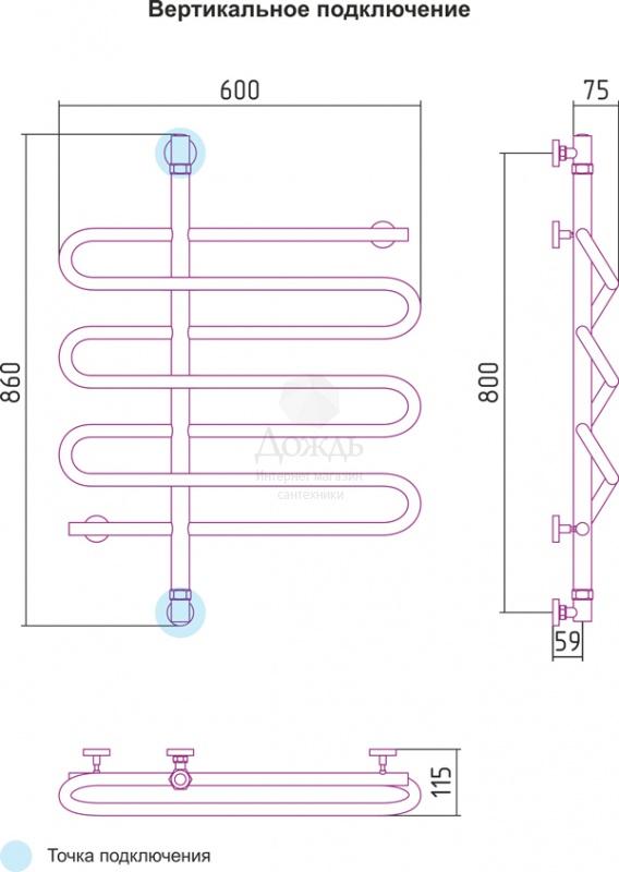Купить Сунержа Эпатаж 00-0112-8060 80х60 см в интернет-магазине Дождь