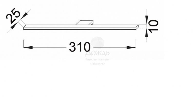 Купить Jacob Delafon Struktura EB1224-NF, 31 см, хром в интернет-магазине Дождь