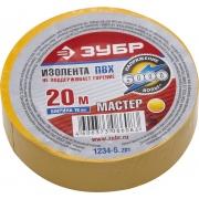 """Зубр """"Мастер"""" 1234-5_z01, ПВХ, 19х20 мм, желтая"""